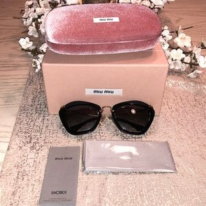 MIU MIU NOIR CATWALK CATEYE SUNGLASSES